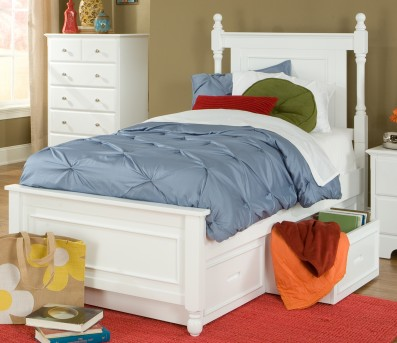 Homelegance Morelle White Twin Storage Bed Available Online in Dallas Fort Worth Texas