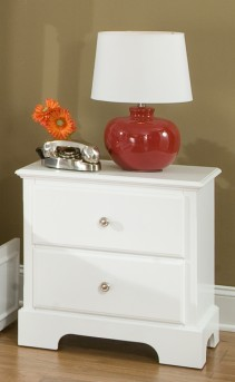 Morelle White Night Stand Available Online in Dallas Fort Worth Texas