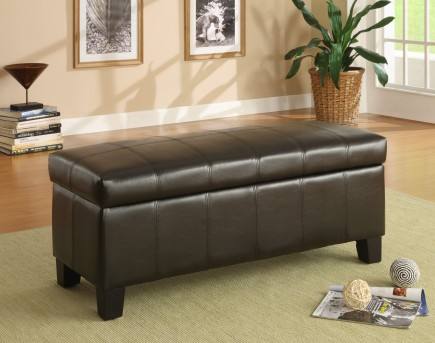 Homelegance Clair Dark Brown Storage Bench Available Online in Dallas Fort Worth Texas