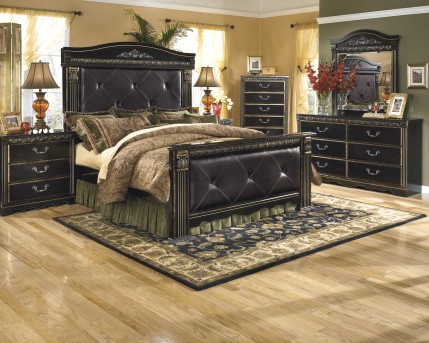 Ashley Coal Creek 5pc King Mansion Bedroom Group Available Online in Dallas Fort Worth Texas