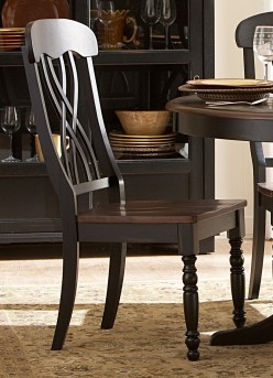 Ohana Black/Cherry Side Chair Available Online in Dallas Fort Worth Texas