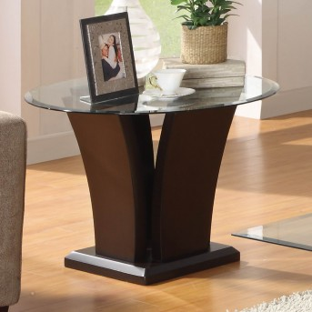 Homelegance Daisy Espresso End Table Available Online in Dallas Fort Worth Texas