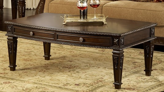 Homelegance Palace Dark Brown Coffee Table Available Online in Dallas Fort Worth Texas
