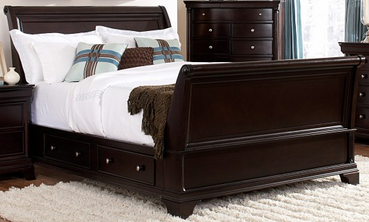 Homelegance Inglewood Queen Sleigh Storage Bed Available Online in Dallas Fort Worth Texas