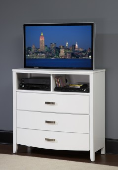 Homelegance Lyric White Media Chest Available Online in Dallas Fort Worth Texas