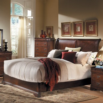 Homelegance Karla Cherry Queen Sleigh Bed Available Online in Dallas Fort Worth Texas