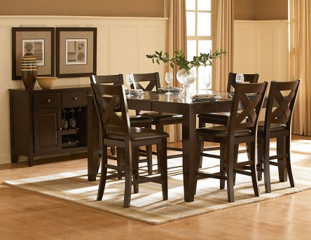 Homelegance Crown Point 7pc Counter Height Dining Set Available Online in Dallas Fort Worth Texas
