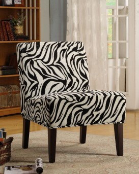 Homelegance Lifestyle Wild Zebra Dolce Lounge Accent Chair Available Online in Dallas Fort Worth Texas