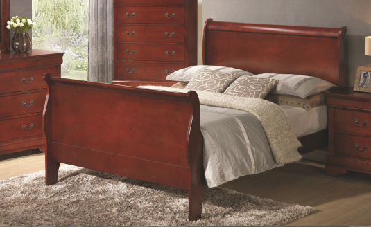 Coaster Louis Philippe Cherry King Bed Available Online in Dallas Fort Worth Texas