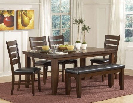 Homelegance Ameillia Dark Oak 6pc Dining Room Set Available Online in Dallas Fort Worth Texas