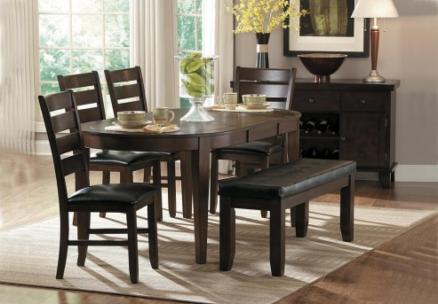 Homelegance Ameillia Dark Brown Oval 6pc Dining Room Set Available Online in Dallas Fort Worth Texas