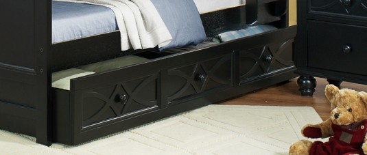 Homelegance Sanibel Black Trundle Available Online in Dallas Fort Worth Texas