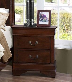 Homelegance Mayville Brown Cherry Night Stand Available Online in Dallas Fort Worth Texas