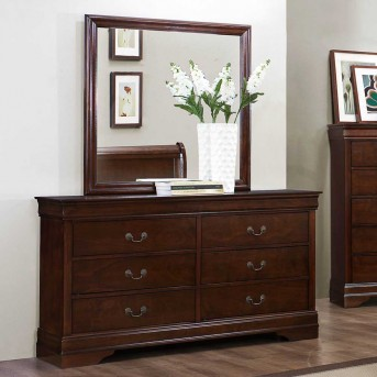 Homelegance Mayville Brown Cherry Mirror Available Online in Dallas Fort Worth Texas