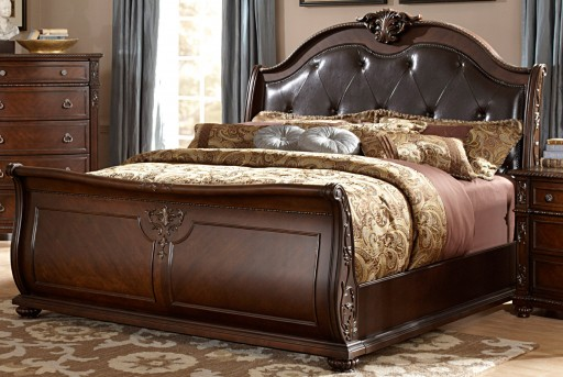 Homelegance Hillcrest Dark Cherry Queen Bed Available Online in Dallas Fort Worth Texas