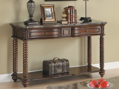 Homelegance Lockwood Brown Mahogany Sofa Table Available Online in Dallas Fort Worth Texas