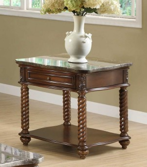 Homelegance Lockwood Brown Mahogany End Table Available Online in Dallas Fort Worth Texas