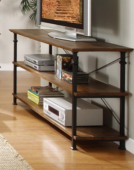 Homelegance Factory Rustic Brown Sofa Table Available Online in Dallas Fort Worth Texas