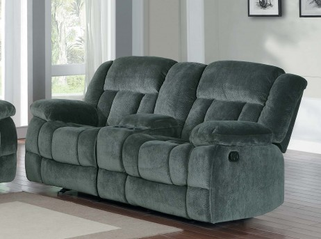 Homelegance Laurelton Charcoal Double Glider Loveseat Available Online in Dallas Fort Worth Texas