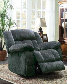 Homelegance Laurelton Charcoal Glider Recliner Chair Available Online in Dallas Fort Worth Texas