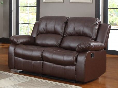 Homelegance Cranley Brown Reclining Loveseat Available Online in Dallas Fort Worth Texas