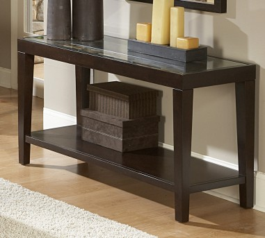 Homelegance Vincent Glass Top Sofa Table Available Online in Dallas Fort Worth Texas