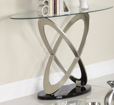 Homelegance Firth Chrome Sofa Table Available Online in Dallas Fort Worth Texas