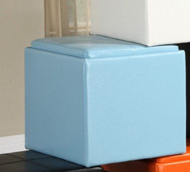 Homelegance Ladd Blue Storage Cube Ottoman Available Online in Dallas Fort Worth Texas