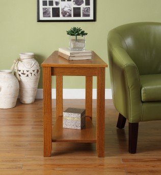 Homelegance Elwell Oak Chairside Table Available Online in Dallas Fort Worth Texas