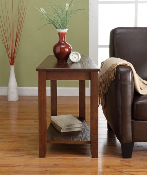 Homelegance Elwell Espresso Chairside Table Available Online in Dallas Fort Worth Texas
