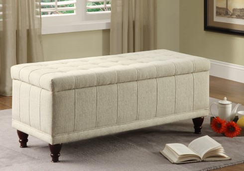 Homelegance Afton Cream Lift Top Storage Bench Available Online in Dallas Fort Worth Texas