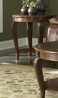 Homelegance Schiffer Cherry End Table Available Online in Dallas Fort Worth Texas