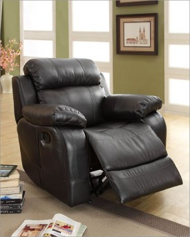 Homelegance Marille Black Recliner Available Online in Dallas Fort Worth Texas