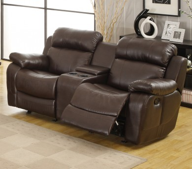 Marille Brown Reclining Loveseat Available Online in Dallas Texas