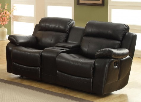 Homelegance Marille Black Reclining Loveseat Available Online in Dallas Fort Worth Texas