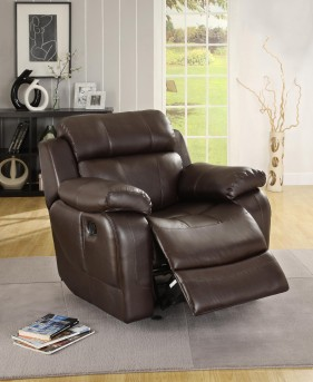Homelegance Marille Brown Recliner Available Online in Dallas Fort Worth Texas