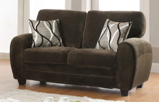 Homelegance Rubin Chocolate Loveseat Available Online in Dallas Fort Worth Texas
