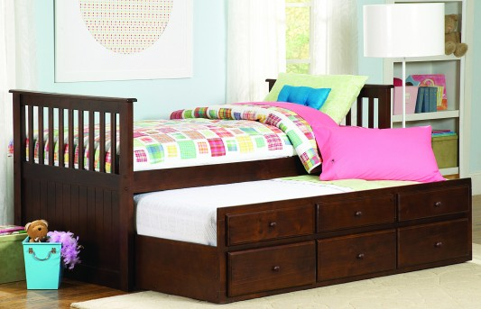 Homelegance Zachary Twin / Twin Trundle Bed Available Online in Dallas Fort Worth Texas