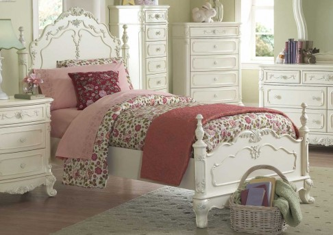 Homelegance Cinderella White Queen Bed Available Online in Dallas Fort Worth Texas
