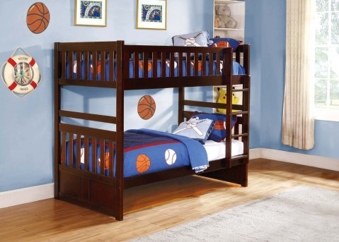 Homelegance Rowe Twin/Twin Bunk Bed Available Online in Dallas Fort Worth Texas