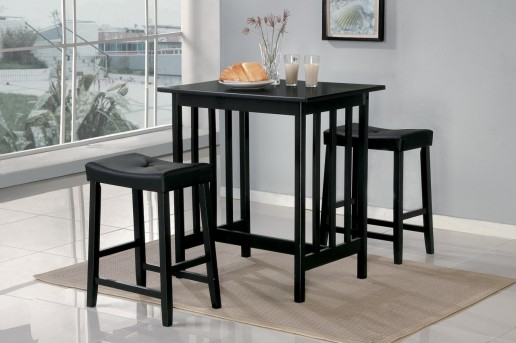 Scottsdale Black 3pc Counter Height Set Available Online in Dallas Texas