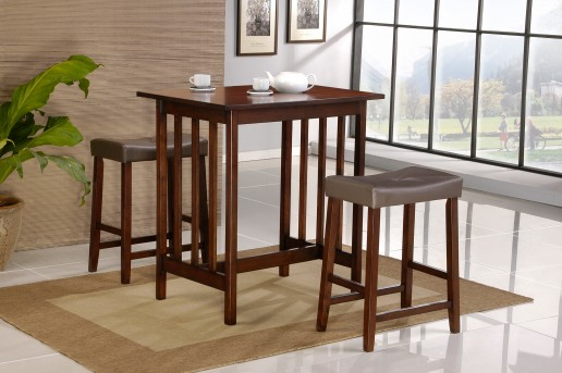 Homelegance Scottsdale 3pc Cherry Counter Height Set Available Online in Dallas Fort Worth Texas