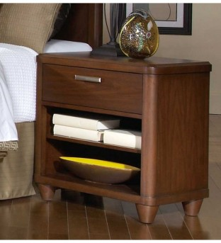 Homelegance Beaumont Brown Cherry Night Stand Available Online in Dallas Fort Worth Texas