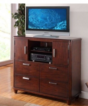 Homelegance Beaumont Brown Cherry Media Chest Available Online in Dallas Fort Worth Texas