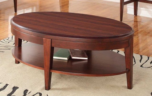 Homelegance Beaumont Brown Cherry Coffee Table Available Online in Dallas Fort Worth Texas
