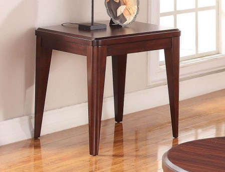 Homelegance Beaumont Brown Cherry End Table Available Online in Dallas Fort Worth Texas