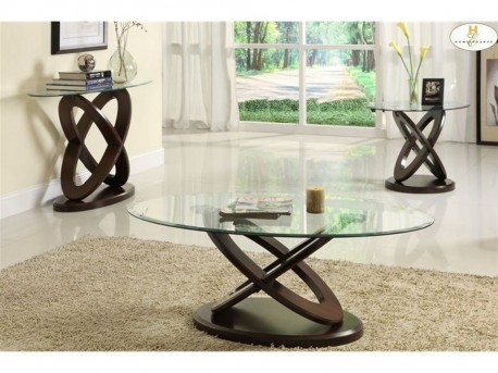 Homelegance Firth Cherry 3pc Coffee Table Set Available Online in Dallas Fort Worth Texas