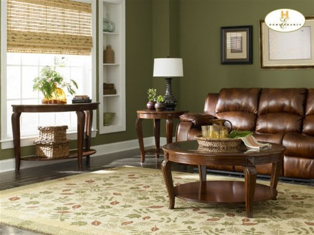 Homelegance Schiffer Cherry 3pc Coffee Table Set Available Online in Dallas Fort Worth Texas