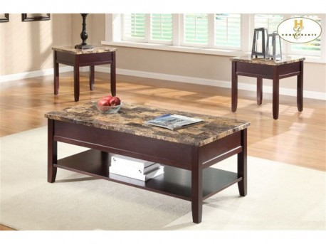 Homelegance Orton Cherry 3pc Lift Top Coffee Table Set Available Online in Dallas Fort Worth Texas