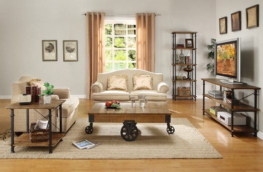 Homelegance Mooney 3pc Rustic Brown Coffee Table Set Available Online in Dallas Fort Worth Texas